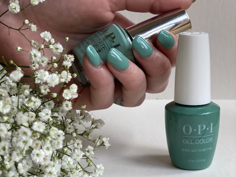 OPI-nails-green-floral-Poppinghole-Farm-Spa